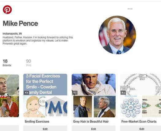 mike pence pinterest