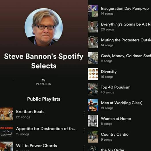 steve bannon spotify sessions insta